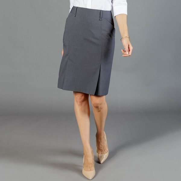 1766WSK Womens Washable Box Pleat Skirt
