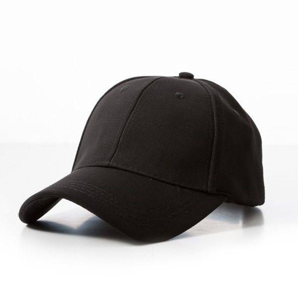 Polyester Ribbed Cap – Black
