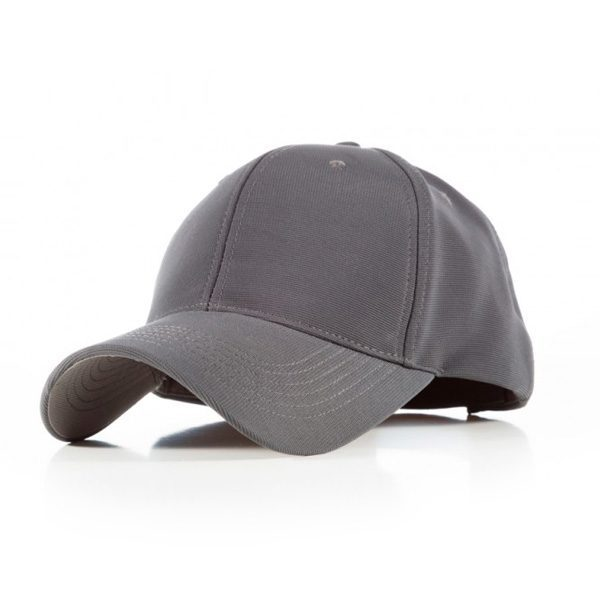 Polyester Ribbed Cap – Grey