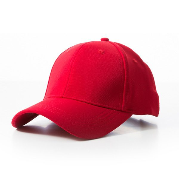 Polyester Ribbed Cap – Red