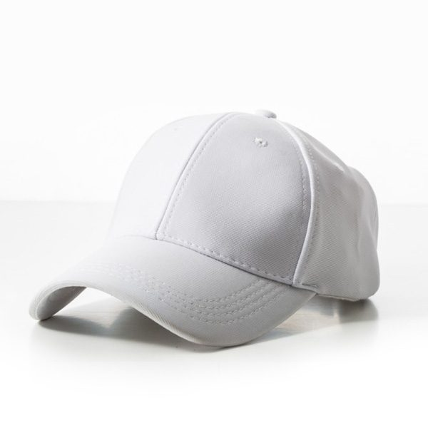 Polyester Ribbed Cap – White
