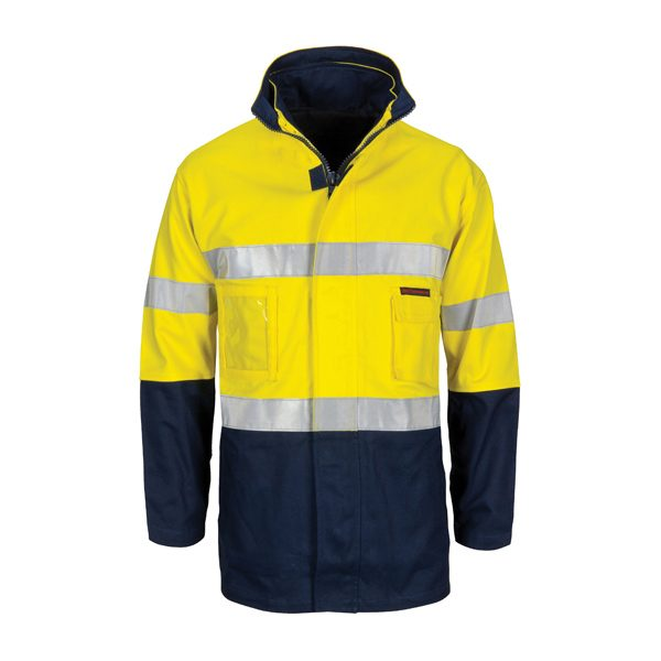 HiVis 4 IN 1 Cotton Drill Jacket with Generic R/Tape