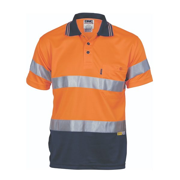 Hivis D/N Cool Breathe Polo Shirt With 3M 8906 R/Tape – Short Sleeve