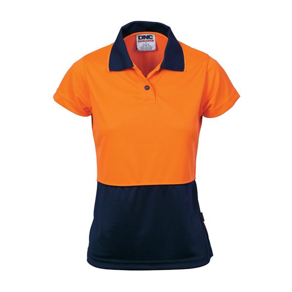 Ladies HiVis Two Tone Polo – Short Sleeve