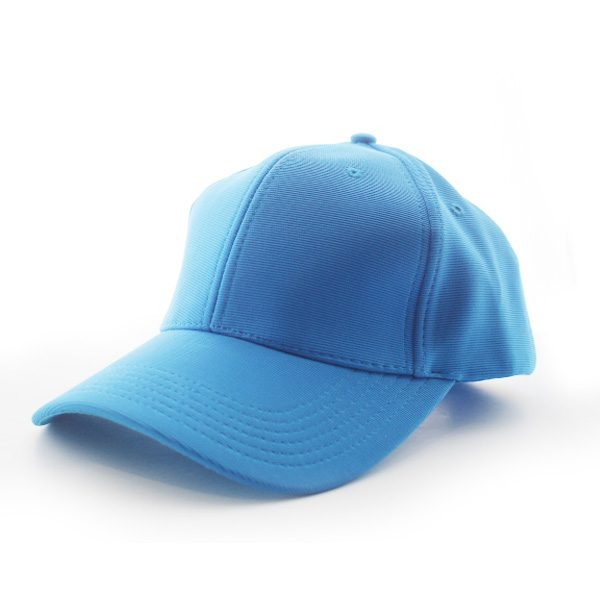 Polyester Ribbed Cap – Light Blue