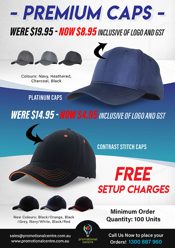 Promotional Centre - Specials - Caps