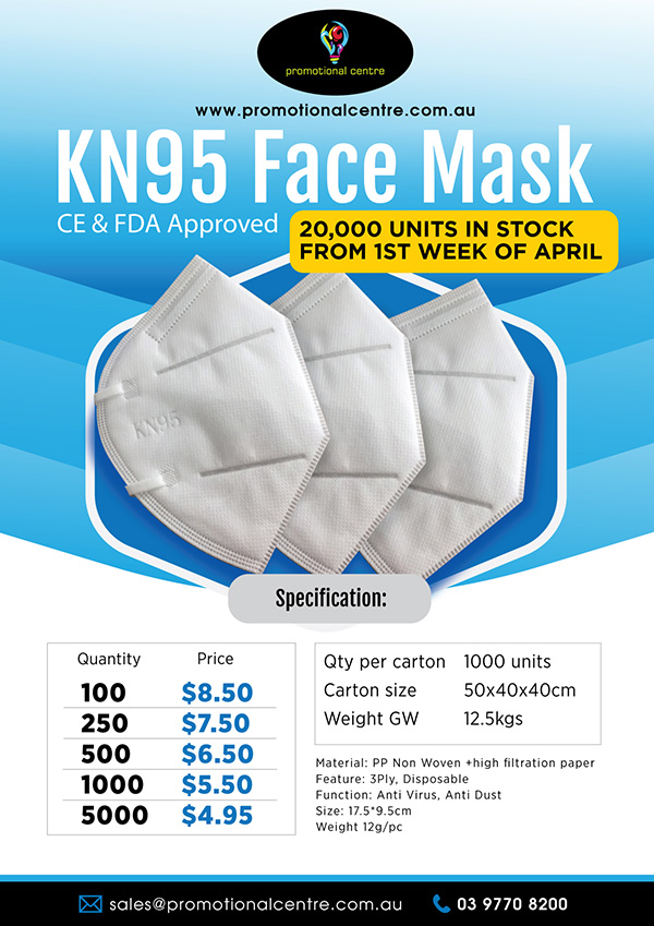 Promotional Centre - Specials - KN95 Face Mask