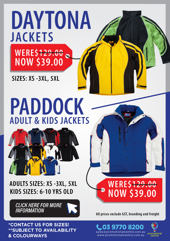 Promotional Centre - Clearance - Daytona and Paddock Jackets