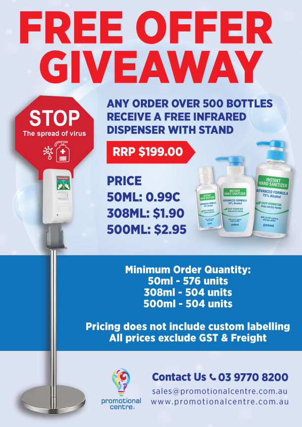 Promotional Centre - Clearance - Free Offer Giveaway - Infrared Dispenser with Stand