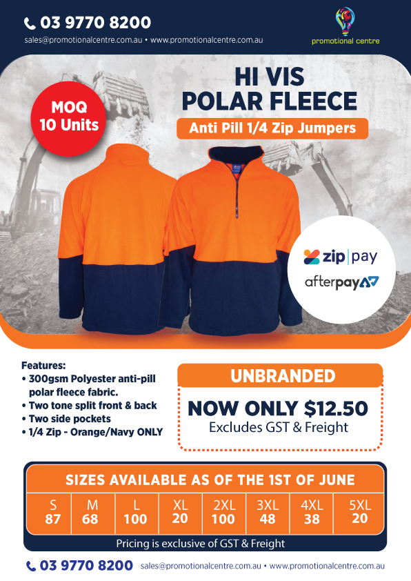 Promotional Centre - Hi Vis Polar Fleece